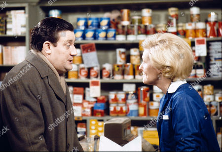 Bryan Mosley (as Alf Roberts) and Irene Sutcliffe (as Maggie Clegg)