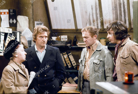 Gabrielle Daye (as Beattie Pearson), Peter Adamson (as Len Fairclough), Graham Haberfield (as Jerry Booth) and Neville Buswell (as Ray Langton)