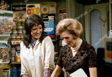 Diana Davies (as Norma Ford) and Irene Sutcliffe (as Maggie Clegg)