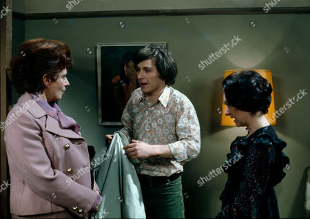 Pat Phoenix (as Elsie Howard), Eamon Boland (as Keith Burgess) and Jennifer Moss (as Lucille Hewitt)