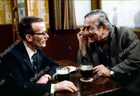 Ted Morris (as Ted Loftus) and Bernard Youens (as Stan Ogden)