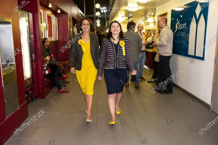 Stock Image of Sarah Olney with fellow Liberal Democrat Munira Wilson both winning seats Twickenham and Richmond constituencies