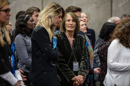 Lady Annabel Goldsmith looks on as son Zac Goldsmith Minister of State for Environment loses his seat to Liberal Democrat candidate Sarah Olney after votes are announced