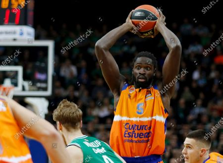 Maurice Ndour of Valencia Basket in action during the Euroleague basketball match between Zalgiris Kaunas and Valencia Basket iin Kaunas, Lithuania, 13 December 2019.