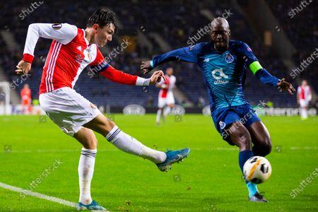 Feyenoord's Steven Berghuis and FC Porto's Danillo