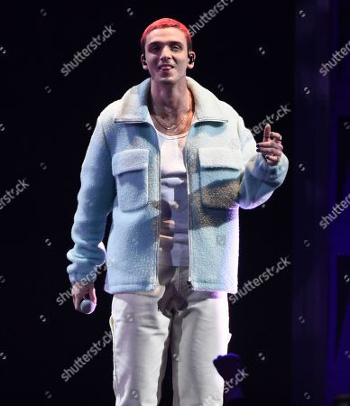 Stock Photo of Lauv, Ari Staprans Leff. Singer-songwriter Lauv performs at Z100's iHeartRadio Jingle Ball 2019 at Madison Square Garden, in New York