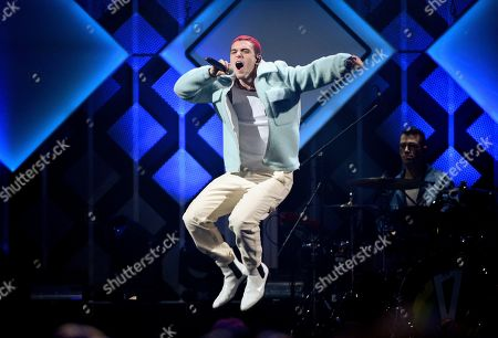 Stock Picture of Lauv, Ari Staprans Leff. Singer-songwriter Lauv performs at Z100's iHeartRadio Jingle Ball 2019 at Madison Square Garden, in New York