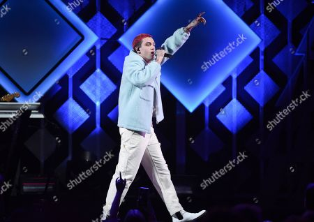 Stock Image of Lauv, Ari Staprans Leff. Singer-songwriter Lauv performs at Z100's iHeartRadio Jingle Ball 2019 at Madison Square Garden, in New York