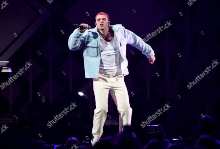 Lauv, Ari Staprans Leff. Singer-songwriter Lauv performs at Z100's iHeartRadio Jingle Ball 2019 at Madison Square Garden, in New York