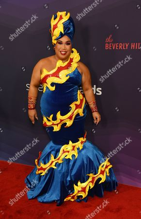 Patrick Starrr poses at the 2019 Streamy Awards at the Beverly Hilton, in Beverly Hills, Calif