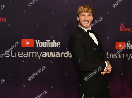 YouTube personality Logan Paul arrives at the 2019 Streamy Awards at the Beverly Hilton, in Beverly Hills, Calif