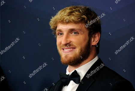 YouTube personality Logan Paul poses at the 2019 Streamy Awards at the Beverly Hilton, in Beverly Hills, Calif