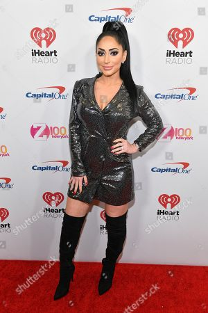 Angelina Pivarnick attends Z100's iHeartRadio Jingle Ball at Madison Square Garden, in New York