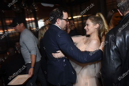 Caitlin Mehner and P.J.Byrne at the After Party