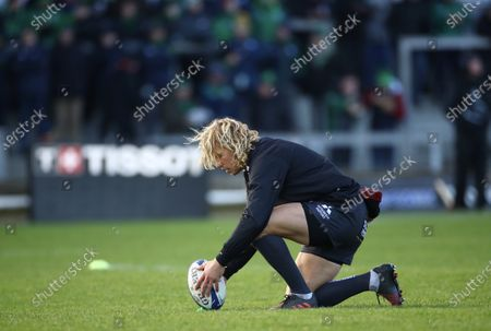 Connacht vs Gloucester. Gloucester's Billy Twelvetrees during the warm-up
