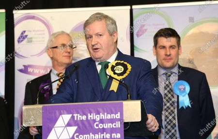 Ian Blackford the SNP leader at Westminster at the election count in Inverness