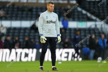 Derby County goalkeeping coach Shay Given during the EFL Sky Bet Championship match between Derby County and Millwall at the Pride Park, Derby