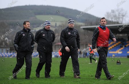 Wicklow vs Kildare. Kildare manager Jack O'Connor with selectors Tom Cribbin, Brian Murphy and Ross Glavin at half time