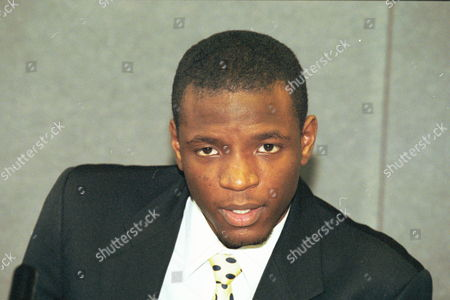 Duwayne Brooks At The Press Conference Stephen Lawrence Inquiry. Witness To The Stephen Lawrence Murder Six Years Ago - 1999