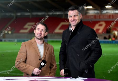 Stock Image of Shane Williams and Mike Phillips.