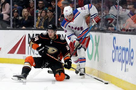 Editorial photo of Rangers Ducks Hockey, Anaheim, USA - 14 Dec 2019