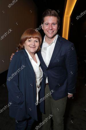 Lesley Nicol and Allen Leech