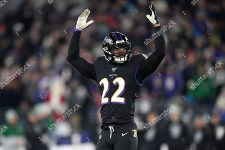 Baltimore Ravens cornerback Jimmy Smith (22) gestures during the second half of an NFL football game against the New York Jets, in Baltimore