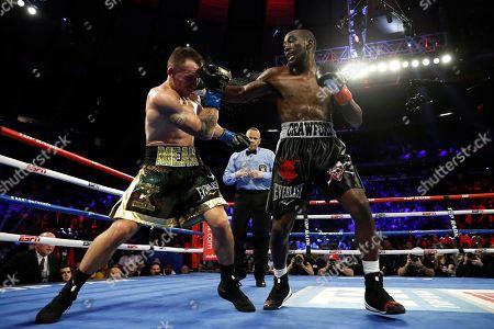 Editorial image of Crawford Kavaliauskas Boxing, New York, USA - 14 Dec 2019