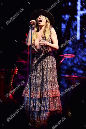 LeAnn Rimes performs on stage during 'You and Me and Christmas Tour 2019'