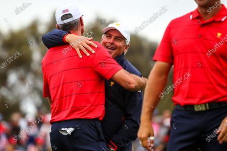 Fred Couples of the United States team celebrates after the final round of the 2019 Presidents Cup