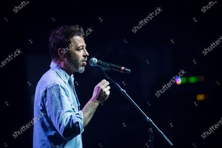 Christophe Mae performs on stage