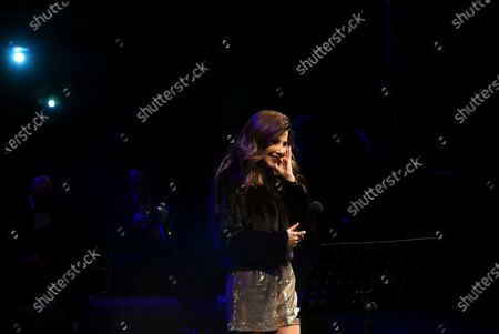 Stock Picture of Nancy Ajram performs during the Annual charity concert hosted by the German University in Cairo, Egypt, 14 December 2019 (issued 15 December 2019).