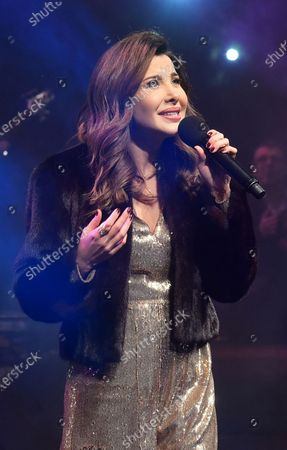 Nancy Ajram performs during the Annual charity concert hosted by the German University in Cairo, Egypt, 14 December 2019 (issued 15 December 2019).