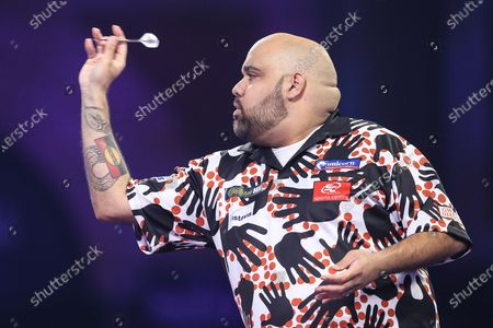 Kyle Anderson during the PDC William Hill World Darts Championship at Alexandra Palace, London