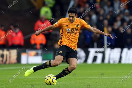 Raul Jimenez of Wolverhampton Wanderers during Wolverhampton Wanderers vs Tottenham Hotspur, Premier League Football at Molineux on 15th December 2019