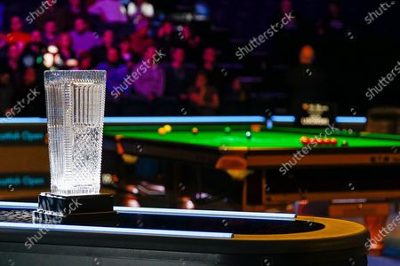 Todays winner will lift the Stephen Hendry Trophy, Action from the first session of the World Snooker 19.com Scottish Open Final Mark Selby vs Jack Lisowski gets underway at the Emirates Arena, Glasgow
