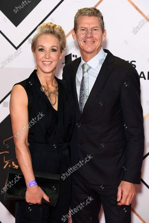 Stock Image of Steve Cram and wife Allison Curbishley