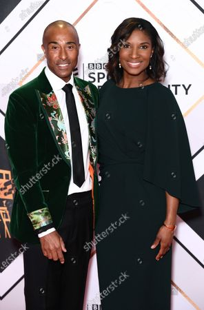 Stock Photo of Colin Jackson and Denise Lewis