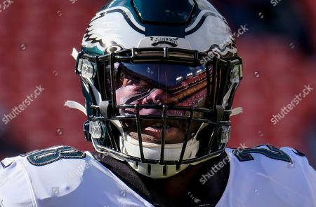 Stock Image of Week 15. Philadelphia Eagles running back Jay Ajayi (28) warming up before the start of an NFL football game against the Washington Redskins, in Landover, Md