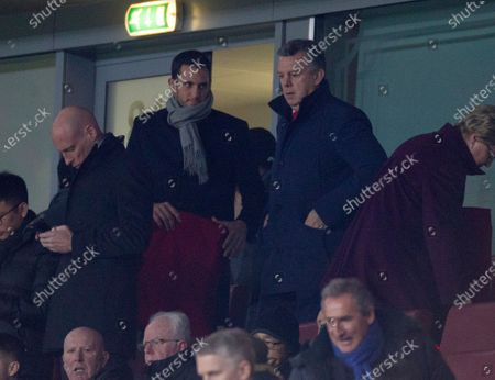 David O'Leary the former Arsenal player watches the game