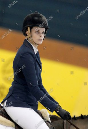 Athina Helene Roussel Onassis of France competes during the 39th International Jumping Contest competition at Casas Novas hippodrome in Arteixo, northwest Spain, 15 December 2019.