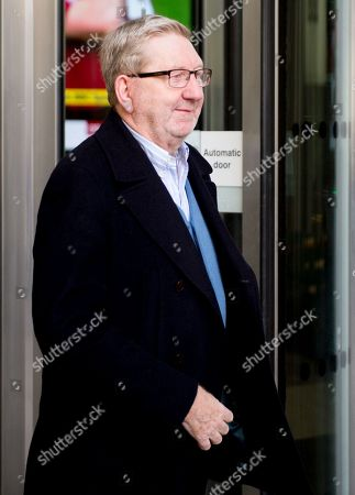 Len McCluskey at BBC Broadcasting House for the Pienaar's Politics show on BBC 5 Live