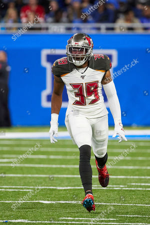 Tampa Bay Buccaneers strong safety Andrew Adams (39) in action against the Detroit Lions during an NFL football game in Detroit