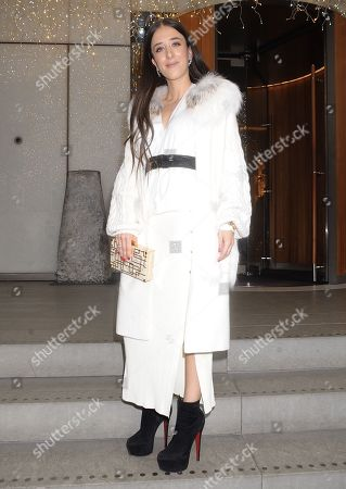 Editorial image of Ella Jade out and about, London, UK - 15 Dec 2019