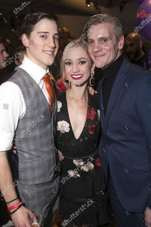Dominic North (Julian Craster), Ashley Shaw (Victoria Page) and Adam Cooper (Boris Lermontov)