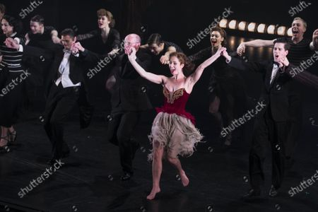Adam Cooper (Boris Lermontov), Brett Morris (Conductor), Ashley Shaw (Victoria Page) and Dominic North (Julian Craster) during the curtain call