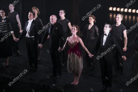 Michela Meazza (Irina), Adam Cooper (Boris Lermontov), Brett Morris (Conductor), Ashley Shaw (Victoria Page) and Dominic North (Julian Craster) during the curtain call