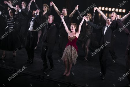 Stock Image of Michela Meazza (Irina), Adam Cooper (Boris Lermontov), Brett Morris (Conductor), Ashley Shaw (Victoria Page) and Dominic North (Julian Craster) during the curtain call