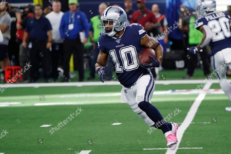 Stock Photo of Dallas Cowboys wide receiver Tavon Austin (10) carries during an NFL football game against the Los Angeles Rams in Arlington, Texas