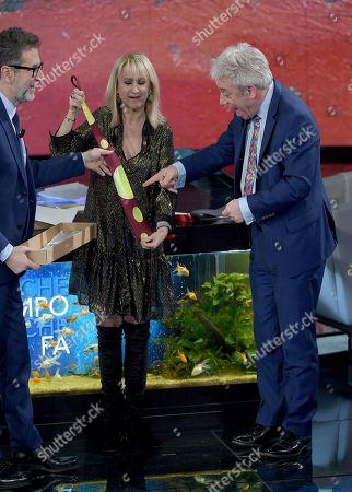 Fabio Fazio, Luciana Littizzetto and John Bercow